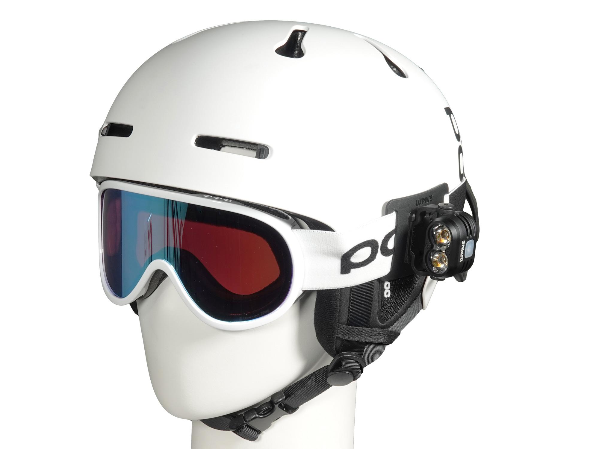 FrontClick Lampenhalter für Mtb-Goggle, Skibrille etc.